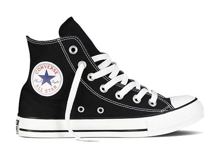 Converse All Stars outlet - hoog of laag model | MEGA UITVERKOOP, OP=OP! Zwart - hoog