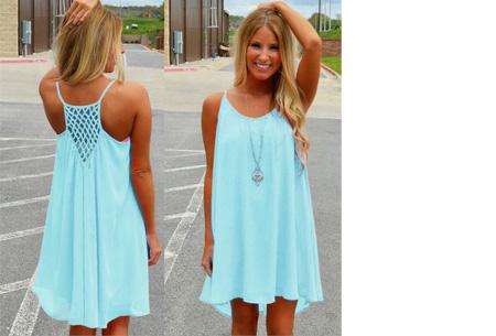 Colorful jurk - Maat L - Lichtblauw
