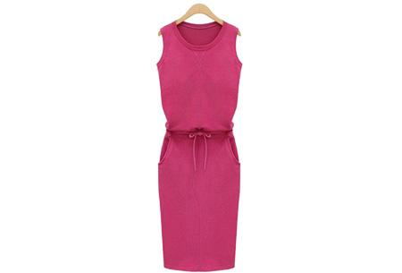 Comfi dress | Stijlvolle en comfortabele jurk in één! Fuchsia