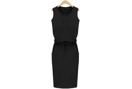 Comfi dress | Stijlvolle en comfortabele jurk in één! Zwart