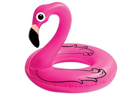 Gigantische opblaasdieren | Heerlijk dobberen op een flamingo, zwaan of eenhoorn! Flamingo