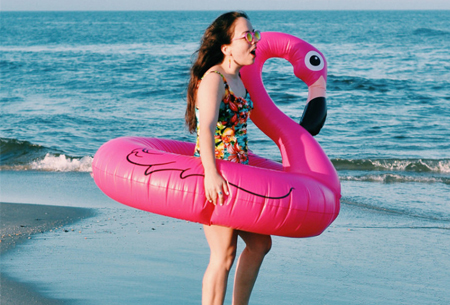 Gigantische opblaasdieren | Heerlijk dobberen op een flamingo, zwaan of eenhoorn!