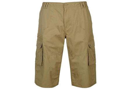 Pierre Cardin korte broeken   Heren shorts van 100% katoen nu in de sale Beige