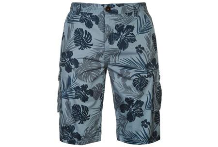 Pierre Cardin korte broeken | 100% katoen en verkrijgbaar in maat S t/m 2XL  Flower blauw