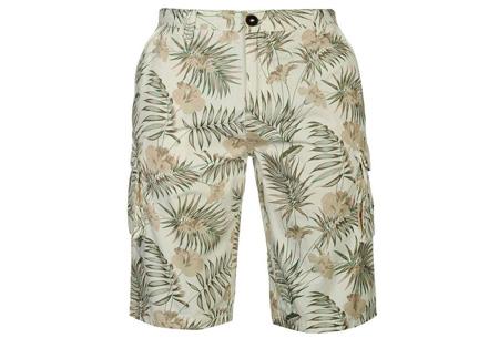 Pierre Cardin korte broeken | Heren shorts van 100% katoen - Nu nóg goedkoper! Flower ecru