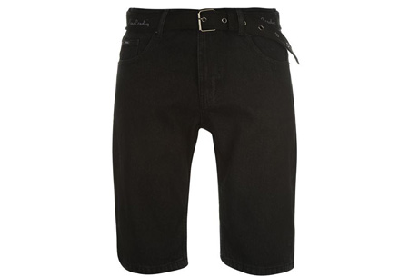 Pierre Cardin korte broeken | 100% katoen en verkrijgbaar in maat S t/m 2XL  jeans zwart