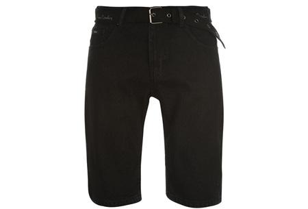 Pierre Cardin korte broeken | Heren shorts van 100% katoen - Nu nóg goedkoper! jeans zwart