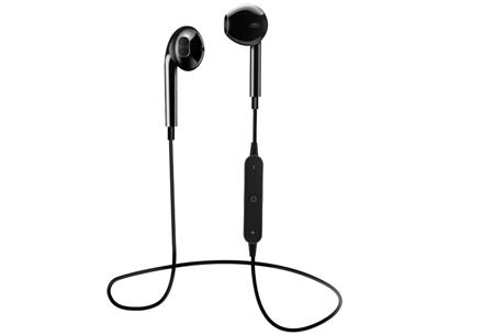 Draadloze Bluetooth oordopjes met handsfree bellen | Geen vervelende snoeren meer! zwart