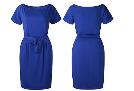 Basic Wrap dress - Maat S - Donkerblauw