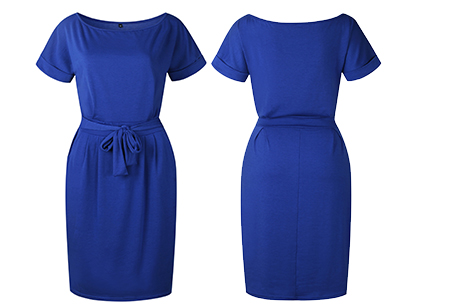 Basic Wrap dress | Elegante en comfortabele basic van dit seizoen Donkerblauw