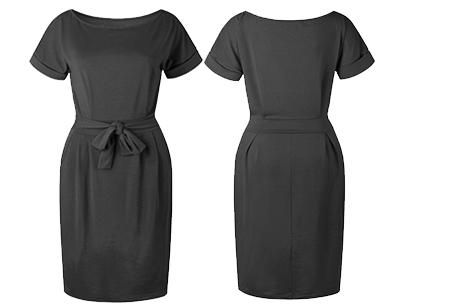 Basic Wrap dress | Elegante en comfortabele basic van dit seizoen Donkergrijs