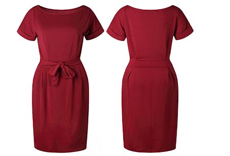 Basic Wrap dress | Elegante en comfortabele basic van dit seizoen Wijnrood