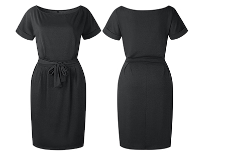Basic Wrap dress | Elegante en comfortabele basic van dit seizoen Zwart