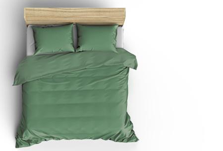 Pierre Cardin Stone Washed dekbedovertrek | Prachtige basic voor elke slaapkamer green