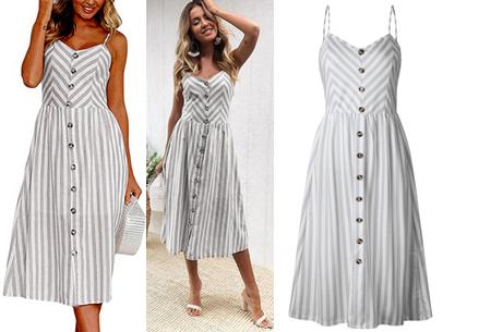Button jurk | Keuze uit 18 prachtige prints of effen kleuren! Maten S t/m 3XL #A