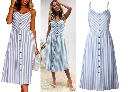 Button jurk | Keuze uit 18 prachtige prints of effen kleuren! Maten S t/m 3XL #B