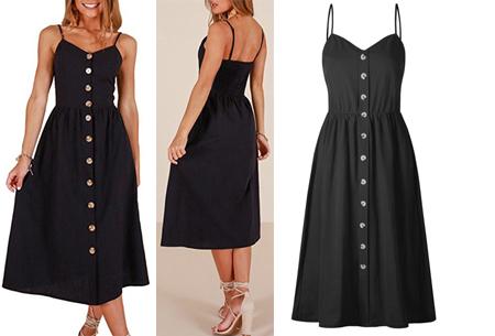 Button jurk | Keuze uit 18 prachtige prints of effen kleuren! Maten S t/m 3XL #C
