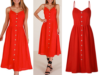 Button jurk | Keuze uit 18 prachtige prints of effen kleuren! Maten S t/m 3XL #D