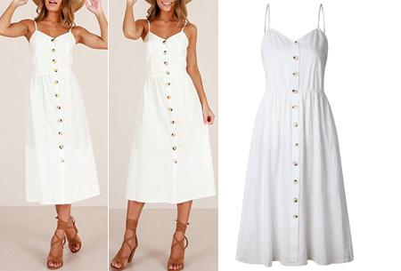 Button jurk | Keuze uit 18 prachtige prints of effen kleuren! Maten S t/m 3XL #E