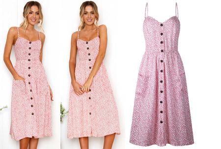 Button jurk | Keuze uit 18 prachtige prints of effen kleuren! Maten S t/m 3XL #F