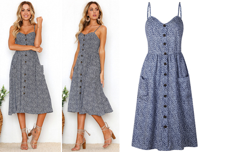 Button jurk | Keuze uit 18 prachtige prints of effen kleuren! Maten S t/m 3XL #G