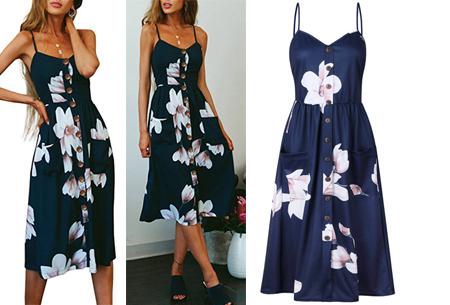 Button jurk | Keuze uit 18 prachtige prints of effen kleuren! Maten S t/m 3XL #H