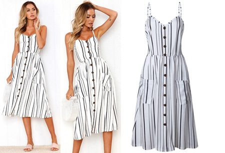 Button jurk | Keuze uit 18 prachtige prints of effen kleuren! Maten S t/m 3XL #I