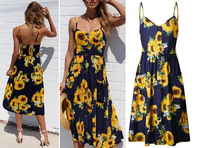 Button jurk | Keuze uit 18 prachtige prints of effen kleuren! Maten S t/m 3XL #J