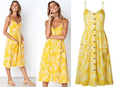 Button jurk | Keuze uit 18 prachtige prints of effen kleuren! Maten S t/m 3XL #M