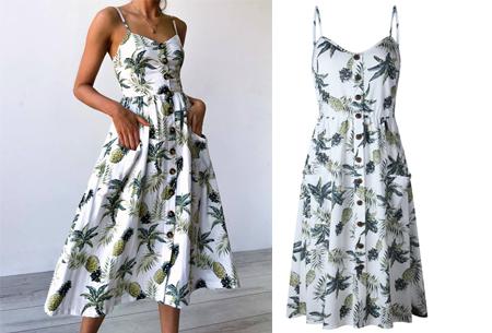 Button jurk | Keuze uit 18 prachtige prints of effen kleuren! Maten S t/m 3XL #N