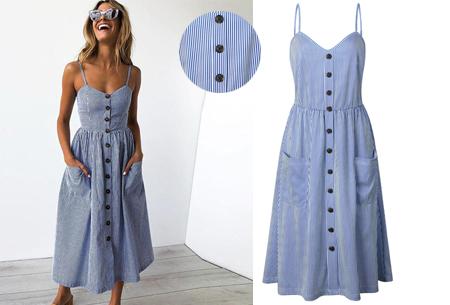Button jurk | Keuze uit 18 prachtige prints of effen kleuren! Maten S t/m 3XL #O