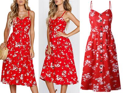 Button jurk | Keuze uit 18 prachtige prints of effen kleuren! Maten S t/m 3XL #P