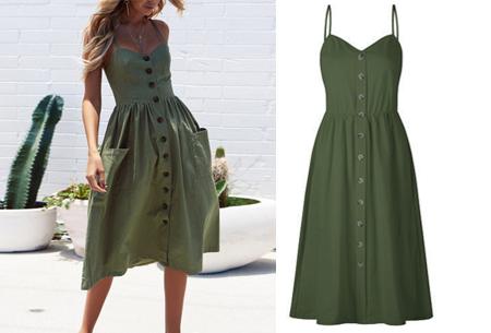 Button jurk | Keuze uit 18 prachtige prints of effen kleuren! Maten S t/m 3XL #R