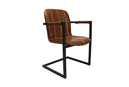 Scoreso stoelen   Eetkamerstoelen met ultiem zitcomfort  cognac
