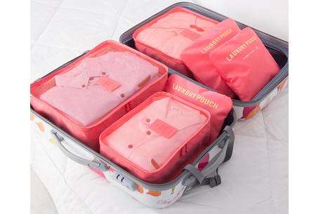 Packing cubes   Je koffer overzichtelijk ingepakt met deze ruimtebesparende bagage organizers!