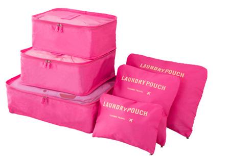 Packing cubes   Je koffer overzichtelijk ingepakt met deze ruimtebesparende bagage organizers! Fuchsia