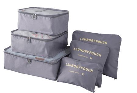 Packing cubes   Je koffer overzichtelijk ingepakt met deze ruimtebesparende bagage organizers! Grijs