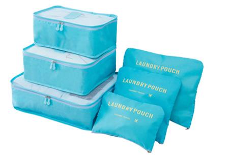 Packing cubes   Je koffer overzichtelijk ingepakt met deze ruimtebesparende bagage organizers! Lichtblauw