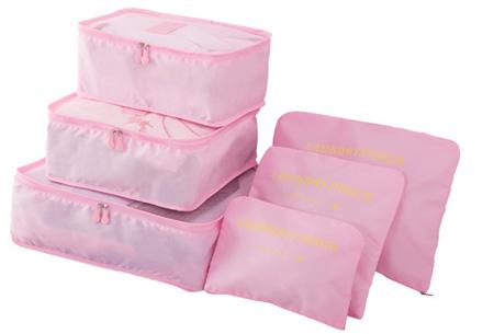 Packing cubes   Je koffer overzichtelijk ingepakt met deze ruimtebesparende bagage organizers! Lichtroze