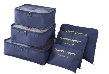 Packing cubes   Je koffer overzichtelijk ingepakt met deze ruimtebesparende bagage organizers! Navy