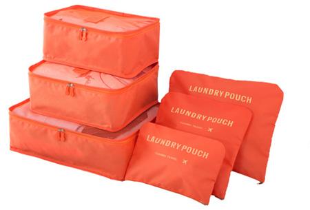 Packing cubes   Je koffer overzichtelijk ingepakt met deze ruimtebesparende bagage organizers! Oranje
