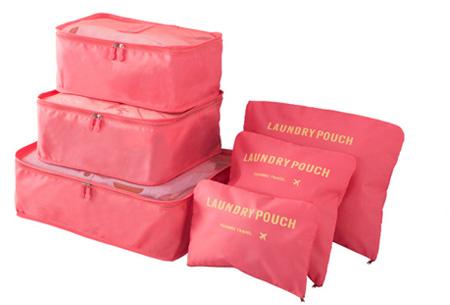 Packing cubes   Je koffer overzichtelijk ingepakt met deze ruimtebesparende bagage organizers! Watermeloen