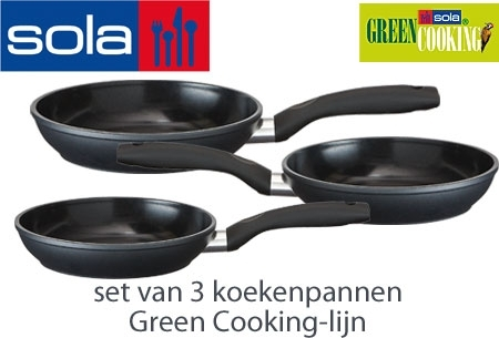 Sola koekenpan green cooking