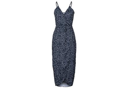 Printed wrap dress | Stijlvolle jurk met een sexy touch Blauw