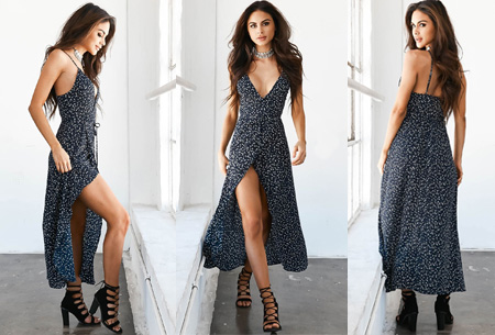 Printed wrap dress | Stijlvolle jurk met een sexy touch