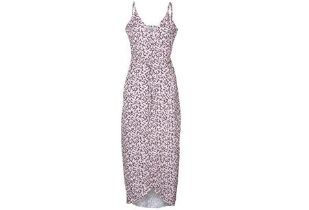 Printed wrap dress | Stijlvolle jurk met een sexy touch Roze