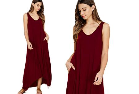Daily maxi jurk | De ideale basic verkrijgbaar in maar liefst 11 kleuren  Wijnrood