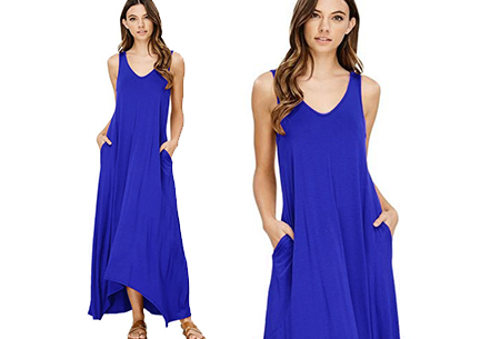 Daily maxi jurk | De ideale basic verkrijgbaar in maar liefst 11 kleuren  Donkerblauw