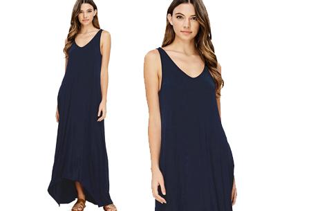 Daily maxi jurk | De ideale basic verkrijgbaar in maar liefst 11 kleuren  Navy
