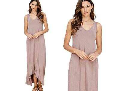Daily maxi jurk | De ideale basic verkrijgbaar in maar liefst 11 kleuren  Roze